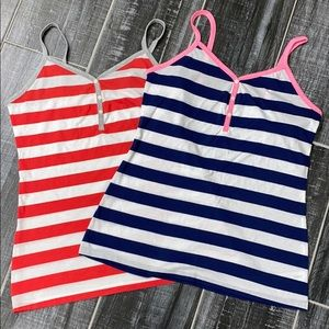 Old Navy striped tank tops